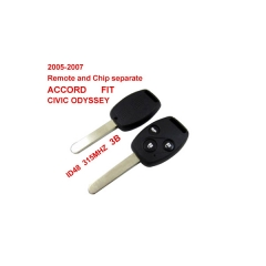 2005-2007 Remote Key 3 Button And Chip Separate ID:48(315MHZ) for Honda